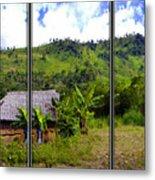 Shuar Hut In The Amazon Metal Print