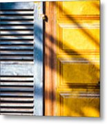 Shutter And Ornate Wall Metal Print