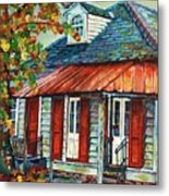 Shuttered Red  Metal Print