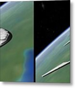 Shuttle X-2010 - Gently Cross Your Eyes And Focus On The Middle Image Metal Print