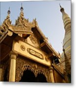 Shwedagon At Sunset Metal Print