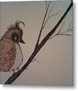 Shy Bird Metal Print