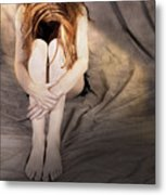 Shy Girl Metal Print