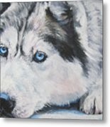Siberian Husky Up Close Metal Print