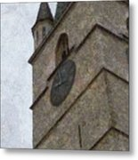 Sibiu Clock Tower Metal Print