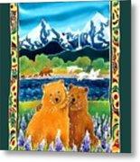 Sibling Bears Of Katmai Metal Print