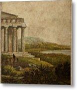 Sicilian Scenery 1823 Metal Print