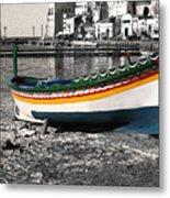 Sicily Fishing Village Metal Print