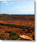 Sicily Landscape Metal Print