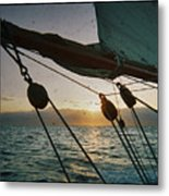 Sicily Sunset Sailing Solwaymaid Metal Print