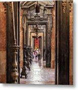 Side Aisle Of The Basilica Of The Mafra Metal Print
