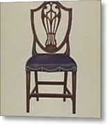 Side Chair (one Of Six) Metal Print