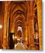 Side Hall Notre Dame Cathedral - Paris Metal Print
