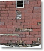 Side Of An Abandoned Old Barn Metal Print