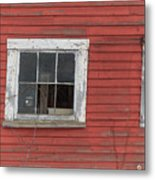 Side Of An Old Red Barn Quechee, Vermont Metal Print
