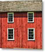 Side Of Barn And Windows At Old World Wisconsin Metal Print