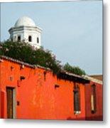 Side Street Homes Antiqua Guatemala Metal Print