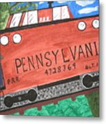 Side Tracked In Pa.  Metal Print