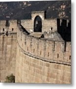 Side View Of The Great Wall Metal Print
