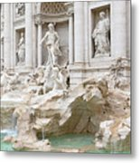Side View Of The Trevi Fountain In Rome Metal Print