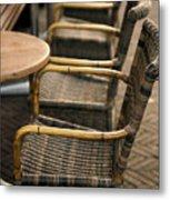 Sidewalk Cafe Texture Metal Print