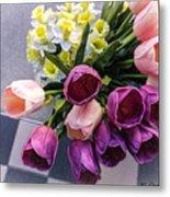 Sidewalk Flowers Metal Print