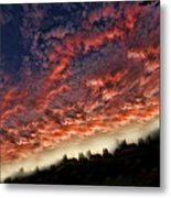 Sideways Sky Metal Print
