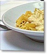 Siena-3-pasta With Four Cheeses Metal Print