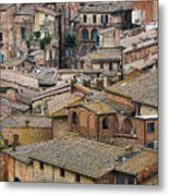 Siena Colored Roofs And Walls In Aerial View Metal Print
