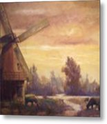 Sienna Mill Metal Print