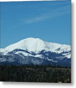 Sierra Blanca Mountain Metal Print