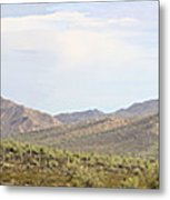 Sierra Estrella Mountains Panorama Metal Print