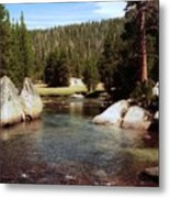 Sierra Nevada Mountain Stream Metal Print