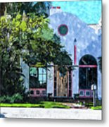 Siesta Key Beach Cottage Metal Print