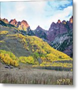 Sievers Peak And Golden Aspens Metal Print