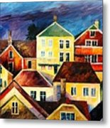 Sight From Above - Palette Knife Oil Painting On Canvas By Leonid Afremov Metal Print