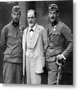 Sigmund Freud 1856-1939, With His Sons Metal Print by Everett