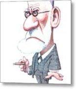 Sigmund Freud, Caricature Metal Print