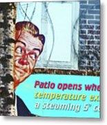 Sign In Window Of The Big Lebowski Bar Reykjavik Iceland 2 332018 2118.jpg  Metal Print