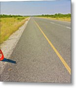 Sign On The Road Metal Print