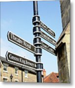 Sign Posts In Bury St Edmunds Metal Print