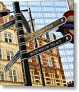Signpost In London Metal Print by Elena Elisseeva