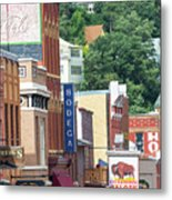Signs And Historic Buildings Metal Print