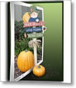 Signs Of Halloween Metal Print
