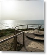 Silence And Solitude - A Special Sunset Throne High Above The Ocean Metal Print