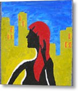 Silence In The City Metal Print