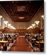 Silence In The Library Metal Print