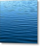 Silent Blue Tranquility Metal Print