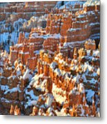 Silent City Snowy Hoodoos Metal Print