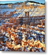Silent City Snowy Sunrise Metal Print